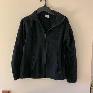 Columbia black fleece jacket women's size small